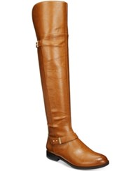 Bar Iii Daphne Block Heel Over The Knee Riding Boots Only At Macy's Women's Shoes Banana Bread