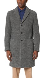 Todd Snyder Boucle Topcoat Grey