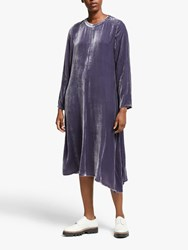 Eileen Fisher Long Velvet Dress Blue Shale