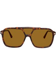 Persol Aviator Sunglasses Brown