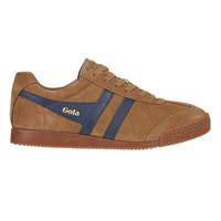 Gola Harrier Suede Tobacco Navy Trainers Brown