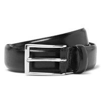 J.Crew 3Cm Black Glossed Leather Belt Black