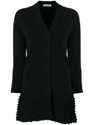 D.Exterior Embroidered Fitted Cardigan Black
