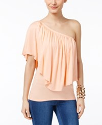 Thalia Sodi Convertible Overlay Top Only At Macy's Peach Breeze