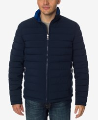 Nautica Men's Quilted Stretch Reversible Jacket Navy