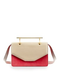 M2malletier Indre Textured Leather Satchel Bag White Pattern
