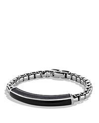David Yurman Exotic Stone Id Bracelet With Black Onyx Silver Black