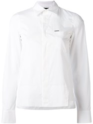 Dsquared2 Classic Fitted Shirt Women Cotton 38 White