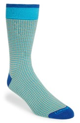 Lorenzo Uomo Men's Houndstooth Socks Peach