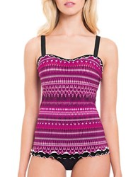 Gottex Indian Sunset Underwired D Cup Tankini Top Pink