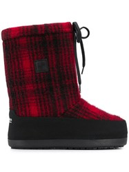 Woolrich Checked Eskimo Boots Black