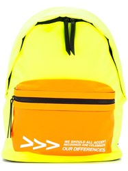 Ports V Colour Block Backpack Yellow