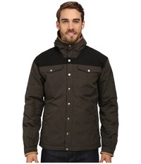 Fjall Raven Greenland No. 1 Down Jacket Mountain Grey Black Men's Coat Olive