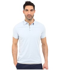 7 Diamonds The Ultimate S S Polo Powder Blue Men's Short Sleeve Pullover
