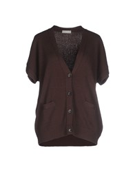 Le Tricot Perugia Knitwear Cardigans Women Cocoa