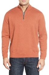 Tommy Bahama Men's Flip Side Reversible Quarter Zip Twill Pullover Tropicana Heather