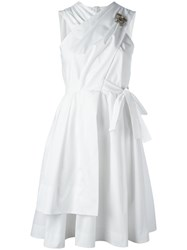 N 21 No21 Back Bow Flared Dress White