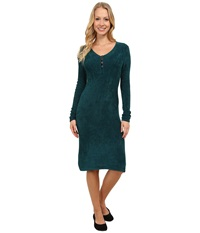 Royal Robbins Voyage Long Sleeve Dress Deep Teal Women's Dress Green