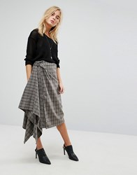 Bolongaro Trevor Checked Skirt Gray