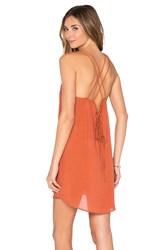 Acacia Swimwear Kama'aina Mini Dress Rust