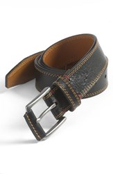 Men's Big And Tall Trask 'Gallatin' Belt Black Bison