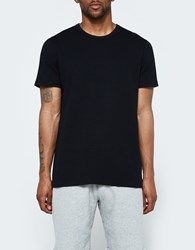 Reigning Champ Ss Crewneck Tee Mesh Flatback In Black