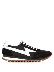 Marc Jacobs Suede And Nylon Trainers Black