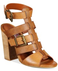 Mojo Moxy Dolce By Darby Block Heel Sandals Women's Shoes Cognac