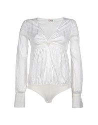 Toy G. Shirts Blouses Women Ivory
