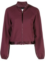 Rosetta Getty Zipped Bomber Jacket Red