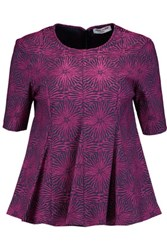 Opening Ceremony Medallion Pleated Jacquard Top Magenta