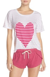 Women's Honeydew Intimates 'Sleep All Day' Pajamas Red Heart
