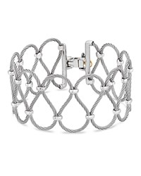 Alor Looped Cable Bracelet Gray