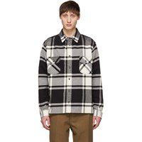 Off White Black And Checked Shirt