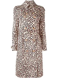 Givenchy Leopard Print Trench Coat Nude And Neutrals