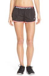 Women's Superdry Gym Shorts Black