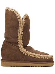 Mou 'Eskimo Inner Wedge Tall' Boots Brown
