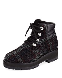 3.1 Phillip Lim Dylan Lace Up Plaid Hiking Boot Multi Pattern