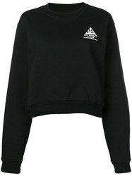 Off White 'Flowers' Logo Embroidered Sweatshirt Black