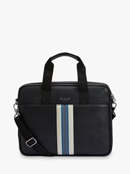 Ted Baker Coopar Webbing Document Bag Black