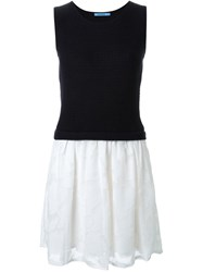 Guild Prime Knit Tank Combo Dress Blue