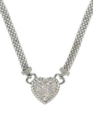 Lord And Taylor Sterling Silver Heart Necklace