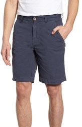 Vintage 1946 Stretch Poplin Shorts Navy