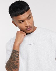 Good For Nothing Oversized Sweat T Shirt In Grey