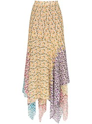 All Things Mochi Elisa Asymmetric Floral Print Skirt 60