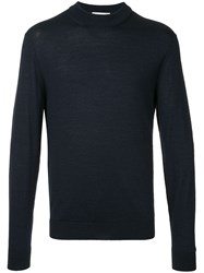 Cerruti 1881 Long Sleeve Fitted Sweater Blue