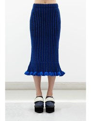 Jamie Wei Huang Lily Cashmere Ruffle Skirt Blue