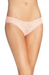 Free People Women's Lace Hipster Briefs Coral