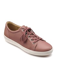 Hotter Brooke Lace Up Casual Shoe Salmon