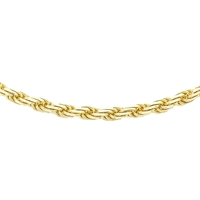 Ibb 9Ct Gold Diamond Cut Rope Chain Gold